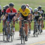 On the road with Ira in the yellow jersey.