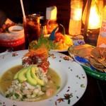 Ceviche on the beach at Fusion