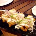 Chimichanga Appetizer at Luna Maya