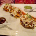 Tostada Appetizers at Luna Maya