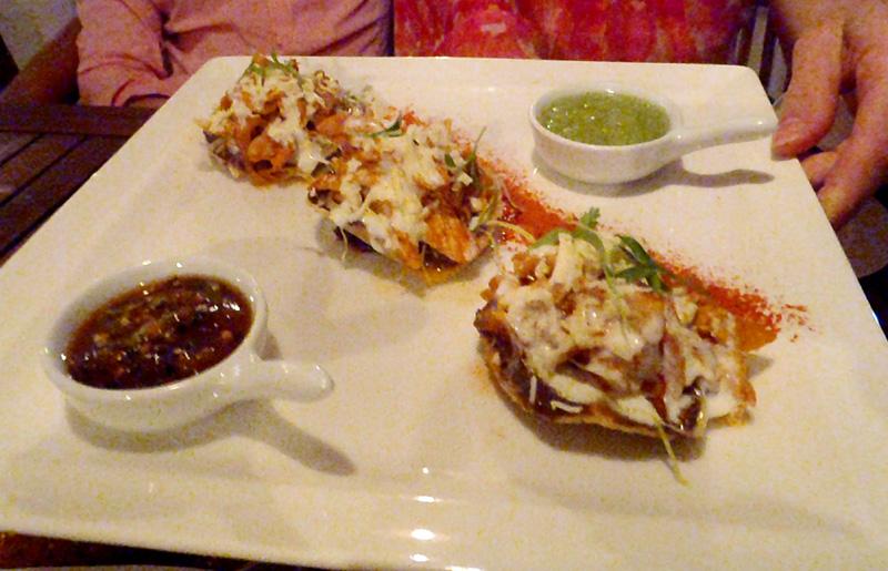Tostada Appetizers at Luna Maya